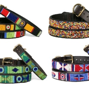 Beaded Leather Dog Collars & Women's Beaded Leather Bracelets