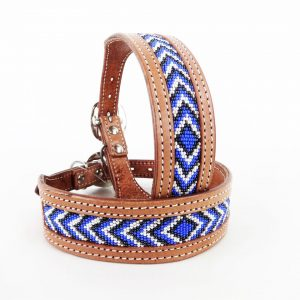 Beaded Leather Collar