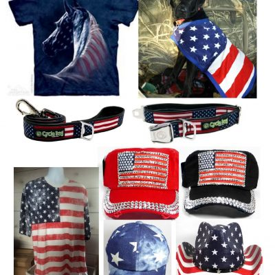 Red, White & Blue Collection - Leashes, Collars. Apparel & Hats for Women & Men