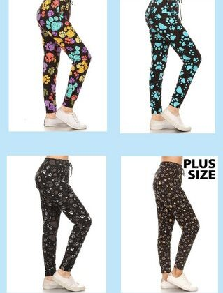 Comfy Paw Print Pants - Voted #1 Most Comfortable Pants