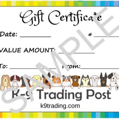 Gift Certificates - Available in $10, $25, $50, $75 & $100