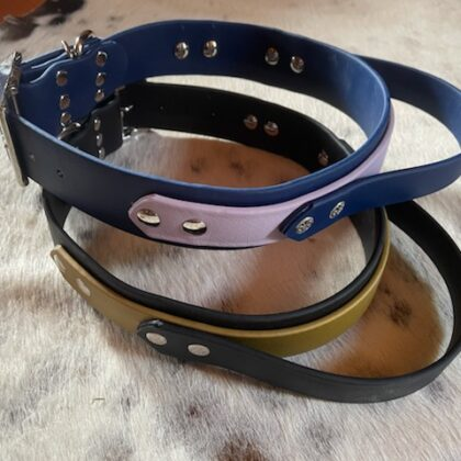 """BioThane with HANDLE 1 1/2"""" wide Collars"""